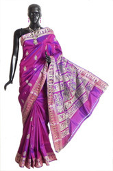 Fabulous Traditional Baluchari Silk Handloom Saree, Hand Made
