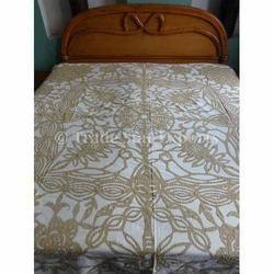 Handmade Cutwork Cotton Bedspread