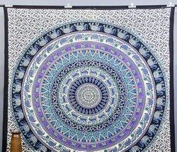 Elephant Mandala Tapestry, Hippie Hippy Wall Hanging
