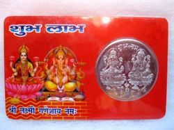 Laxmi Ganesh Gold Coin with Card