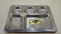 American 3 Round Regular Thali, For Home