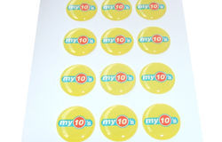 3D Dome Stickers, Packaging Type: Packet