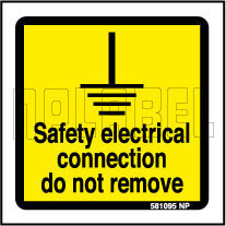 581095 Safety Electrical Connection Sticker Label