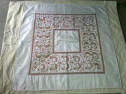Table Cover Silk Embroidery Kashmiri Work