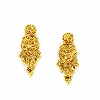 Gold Earrings Souvenir India
