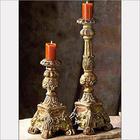 Antique Gold Candle Holders Zama Interiors Exporter In Pilkhan