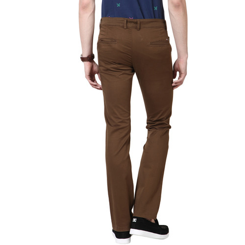 f1371bc4387 Brown Formal Wear Mens Plain Formal Office Trousers