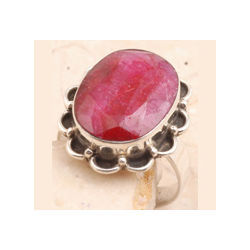 Dyed Ruby Ring