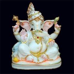 Ganapati Marble Moorti