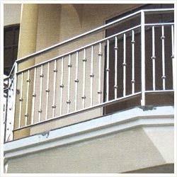Stainless steel balcony railing keddy concept mumbai for Balcony grills enclosure designs in india