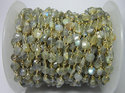 Gold Plated Labradorite Coin Gemstone Beaded Chain