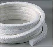 Fiber Glass Impregnated Through Out with White PTFE