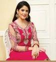 Pink Georgett Anarkali Suit