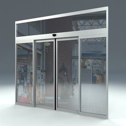 sliding glass door. Automatic Telescopic Sliding Glass Door O