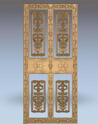 Four Pattern Doors Wooden Carvings