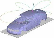 Rod Antenna On Car Body