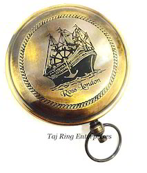 Ross London Nautical Push Button Compass