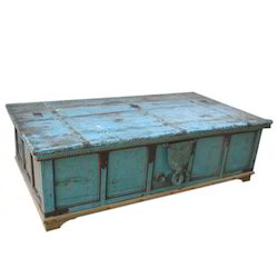Wooden Box Turquoise