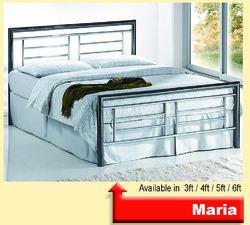 Powder Coated Steel Bed, Single, for Home