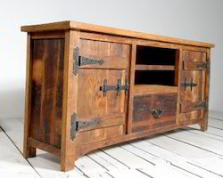Reclaimed Wood Natural Finish TV Cabinet