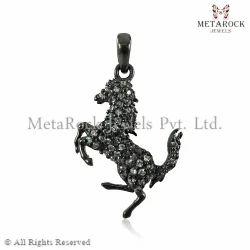 Horse Charm Diamond Pendant