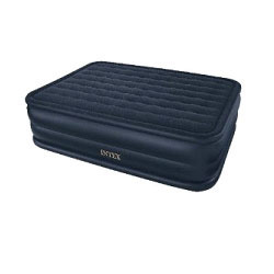 Navy Blue Intex Queen Raised Downy Air Bed Size 60 Wide X 80