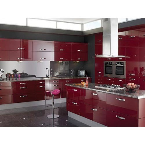 Pvc L Shape Modern Modular Kitchen Rs 850 Square Feet: Aluminum Modular Kitchen Designing In Chromepet, Chennai, Grp Groups