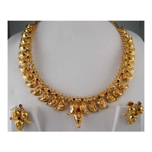 Indian Gold Jewellery Necklace Designs With Price: Vardhaman Goodwill Indian Jewellery, Rs 1200 /set