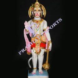 Standing Hanuman Marble Statue
