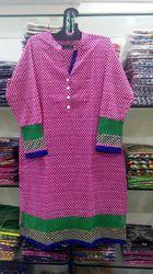 Lehriya Print Cotton Kurti