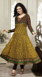 Black And Yellow Salwar Suit