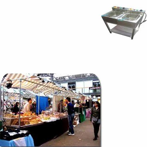 Deep Flat Fryer for Food Stalls