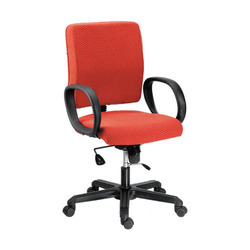 Fabric Upholstery Mid Back Lumber Support Office Chair