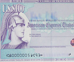 Foreign Currency Traveler's Cheque