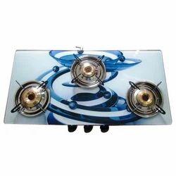 3 Burner Glass Top Gas Stove