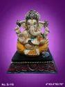 Multicolor Glossy Finish Fiber Ganesh Statue, Table, Temple, For Home Decor