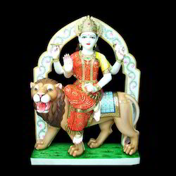 30 Inch Marble Durga Moorti