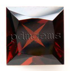 Garnet Square Princess Gemstone