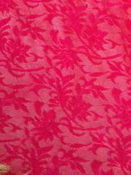 Multicolor Self Designed Velvet Fabric