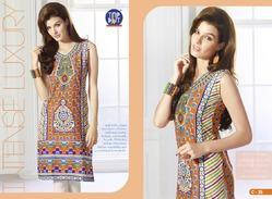 Printed Cotton Women Kurti