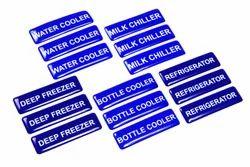 Blue Polyurethane PU Label, Packaging Type: Box
