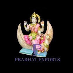 Marble Goddess Brahmani Statue