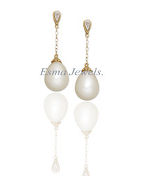 Pearl Earring With Gold Plated