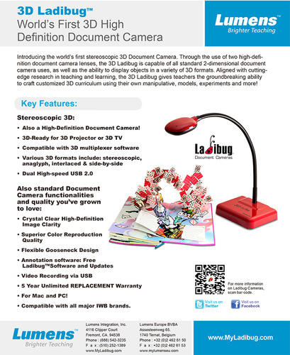 3D Document Camera, Camera & Photography Equipments