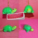 Eco Friendly Green Turtle - Paper Mache Christmas Ornament
