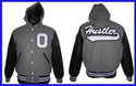 Vinyl Hood Collar Team Varsity Jacket
