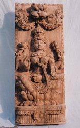 Wooden Mahalakshmi 2 1/2  feet