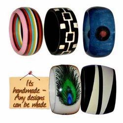 Acrylic Resin Bakelite Designer Handmade Bracelets Bangles