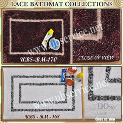 Lace Cotton Bathmat