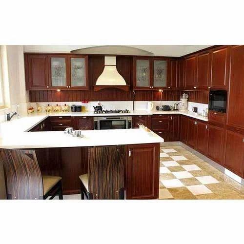 G Shaped Kitchen Interior Designing Decoration Viswanath